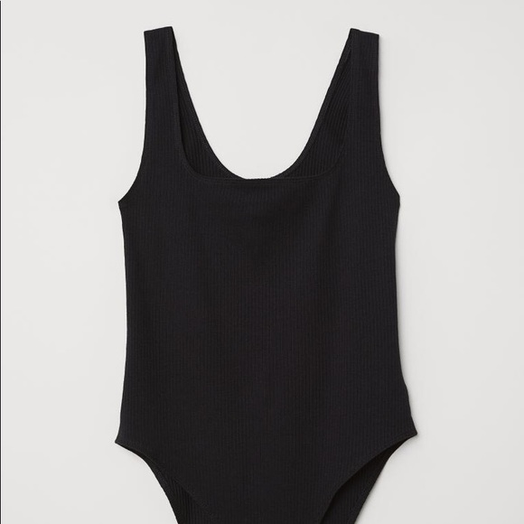 Divided Other - H&M Divided Black Ribbed Bodysuit | Sz Small